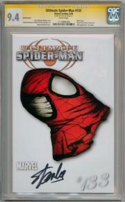 Ultimate Spider-man  #133 White Variant CGC 9.4 Signature Series Signed Stan Lee  Marvel comic